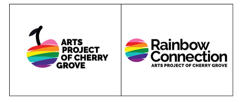 Langton Creative logo designs for Arts Project of Cherry Grove and Rainbow Connection