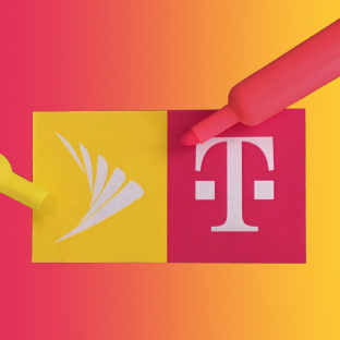 Will T-Mobile pink or Sprint yellow dominate the telecom merger?